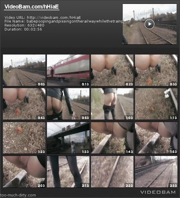 Babe_Pooping_and_Pissing_on_the_Railway_While_the_Train_Passing_1