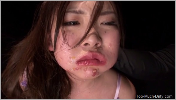 Japanese Girl Forced to Eat Puke and Deepthroat